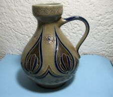 Henkelvase Goebel Merkelbach Salzglasur Vase Handarbeit 1984 Keramik Krug 22,5cm