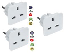 3 X UK to EU Europe Power Adaptor Plug Converter Travel Adapter European 2 Pin
