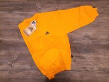 Felpa ADIDAS original bambino 5-6 anni girocollo logo ricamo giallo boy sweat