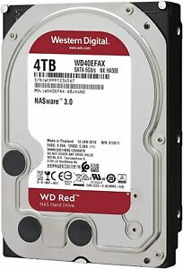 HARD DISK 3,5 WESTERN DIGITAL RED 4TB SATA3 5400rpm 256MB WD40EFAX PER NAS