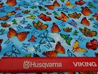 BUTTERFLIES FABRIC ON LIGHT BLUE FROM TIMELESS TREASURES BY THE 1/2 YARD
