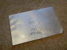 Original 1985 Chevrolet Corvette Owner's Manual Book OEM