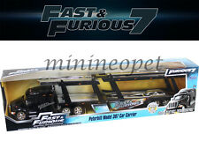 JADA 97071 FAST AND FURIOUS 7 PETERBILT MODEL 387 CAR CARRIER 1/64 DIECAST BLACK