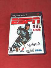 Espn Deportes NHL 2K5 Sony Playstation 2 2004 Videojuego con Instrucciones