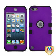 iPod Touch 5th / 6th Gen Purple High Impact Armor Hard & Soft Rubber Hybrid Case