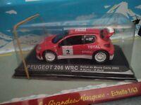 IXO 1/43 PEUGEOT 206 WRC #2 MONTE CARLO 2003 NEUF EN BOITE