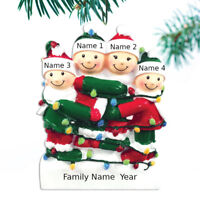 Tangled Light Family Ornament Personalized Christmas Ornament Family of 2 3 4 5