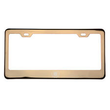 Rose Gold Laser Etched Cadillac Logo License Plate Frame Stainless Steel T304