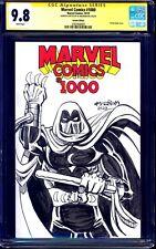 Marvel Comics #1000 BLANK CGC SS 9.8 signed MOON KNIGHT SKETCH by Al Milgrom