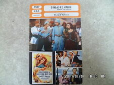 CARTE FICHE CINEMA 1947 SINBAD LE MARIN Douglas Fairbanks Jr Maureen O'Hara