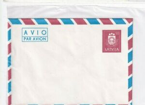 Lettland BRIEF 1991 WAPPEN COVER POSTAL STATIONERY LATVIJA COAT OF ARMS