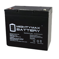 Mighty Max 12V 55AH Internal Thread Battery Replacement for Power Sonic PS-12550