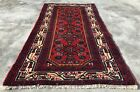 Authentic Hand Knotted Vintage Ceena Wool Area Rug 4 x 2 FT (2547 KBN)