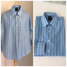 1960s Mens Pale Blue Carvel Bri Nylon Button Down Shirt Mod Unworn True Vintage.