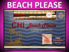 "NEW!!! CHI BEACH PLEASE 1"" CERAMIC HAIR STYLING FLAT IRON STRAIGHTENER + BAG SET"