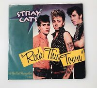 Stray Cats Rock This Town 45 RPM Vinyl Record Picturesleeve EMI America B-8132