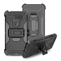 Hybrid Hard Armor Belt Clip Cover Rugged Holster Case For LG V30 Plus/V30s ThinQ