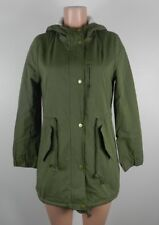 Clocolor Women's Long Sleeve Hooded Jacket-Zip & Snap Front-Green-Size Large