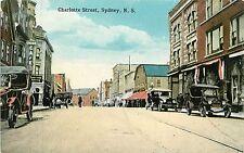 Canada, N.S. , Sydney, Charlotte Street  Early Postcard