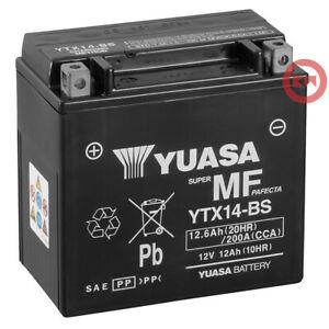 Batterie Original Yuasa YTX14-BS 12Ah Suzuki Lt F Eiger 4X4 400 2002-2007