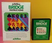 Atari 2600 Bridge Game & Instruction Manual Tested Works Rare