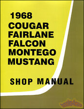 SHOP MANUAL FORD MERCURY SERVICE REPAIR 1968 BOOK HAYNES CHILTON CLYMER