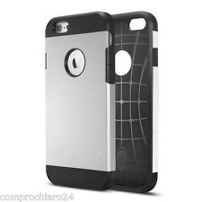 "Custodia Armor Nero / Grigio in Tpu Policarbonato per iPhone 6 4,7"" - Slim Cover"