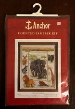 Anchor Counted Cross-Stitch Kit - AFRICAN SAMPLER #PSC36, 44x35cm - New