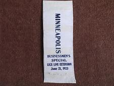 Electric Short Line Railroad Co Luce Line Extension 6-21-1923 Ribbon/Minneapolis