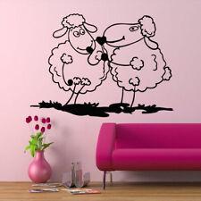Wall Decal Sheep Animal Love Cheerful Funny Cartoon Nursery Baby room M658