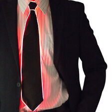 Light Up LED Flashing Glow In Dark Luminous EL Tie Necktie Men DJ Cosplay Props