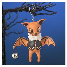Bethany Lowe LeeAnn Kress Orange Oliver Bat Halloween Retro Vntg Decor Ornament
