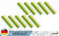 10 Stück Pin-Leisten je 2x18Pin 2,54mm vergoldet grün für Arduino Raspberry Pi