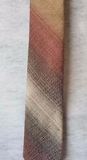 CLASSIC MEN'S TIE  in MUTED SHADES of SOFT TANS EUC