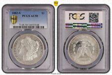 1883 s silver Morgan $1 dollar pcgs au50