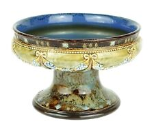 ROYAL DOULTON SALT GLAZED STONEWARE SHALLOW PEDESTAL BOWL COMPORT TAZZA 8486