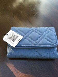 NWT -Vera Bradley- RFID Riley Compact Wallet Charcoal - MSRP $54