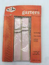 1950's-60's DeLuxe Pink Adjustable Garters Nos