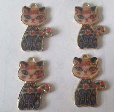 Hot sell ! 4PCS machine cat Pendant beaded Jewelry DIY Findings 25x15mm DDD