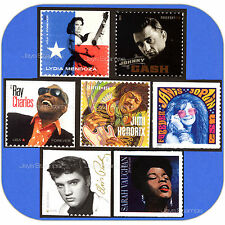 2013-2016  MUSIC ICONS  Johnny Cash Elvis FULL SET of 7  MINT  Forever®  Stamps