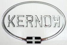 Kernow Chrome Gel Domed CAR STICKER with St Piran Flag 180mm X 120mm