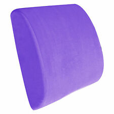 Memory Foam Lumbar Back Support Pillow Chair Cushion for Relief Back Pain Purple