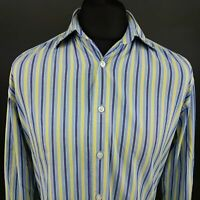 GANT Mens Oxford Shirt LARGE Long Sleeve Multicoloured Regular Fit Striped