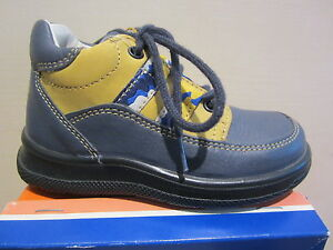 Jela Ll Boots Blue/Yellow Leather Footbed New