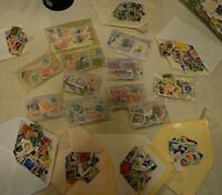 Mostly Vintage Lot Of Used, US Postage Stamps and some Foreign. 100+ each lot