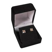 Princess Champagne Diamond Alternatives Stud Earrings 14k White Gold over 925 SS