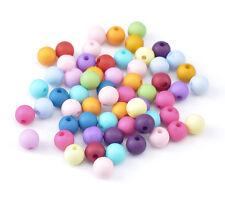 300 Mixte Perles Intercalaires Acrylique Rond 8mm Dia.
