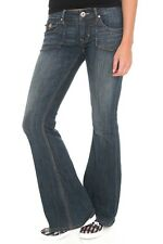 Size 5 Premium Dark Blue super comfy stretch Denim Threads Flare Jeans NEW sz 5