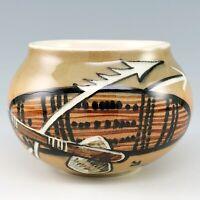 Aboriginal Australia Pottery Pot Studio Anna Vase Hand Painted Jungvirt Vintage