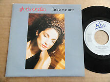 "DISQUE 45T DE GLORIA ESTEFAN  "" HERE WE ARE """